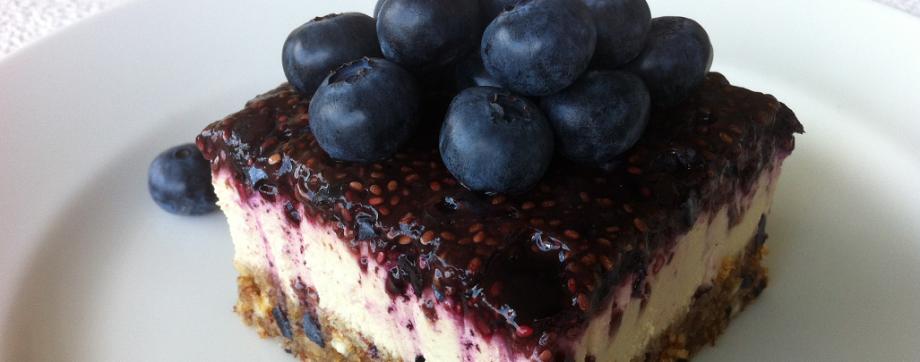 Raw Blueberry LemonCheesecake