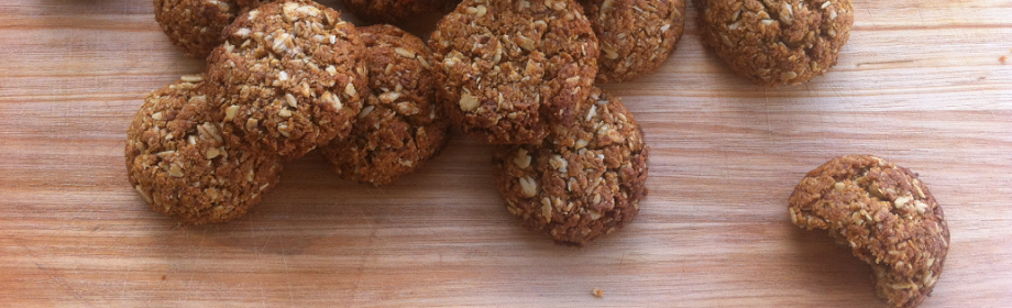 Super Healthy Anzac Biscuits